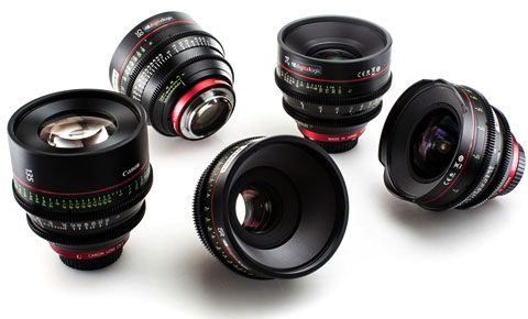 Alquiler Opticas Canon CN con RED Epic Dragon