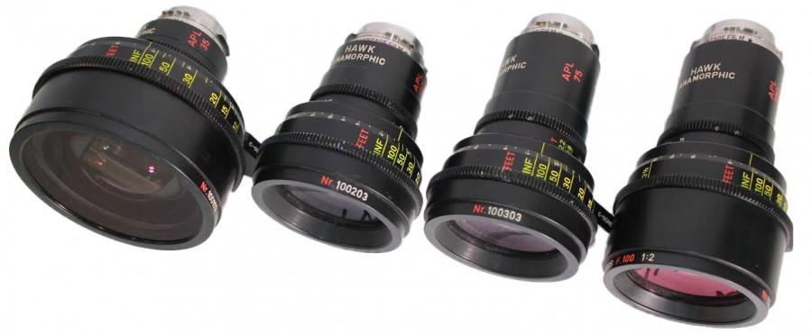 Alquiler Opticas Anamorficas Hawk C-Series | Camaleon Rental